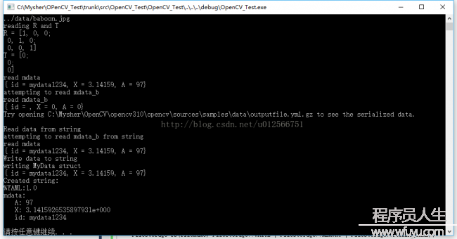 OpenCV3.0 Examples学习笔记(8)-filestorage.cpp